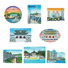 Seoul Korea Fridge Magnet Korean Building Refrigerator Magnets Memo Holder Gift