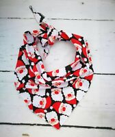 Jolly Santa Christmas Dog Bandana - Tie on Classic/Stocking Filler Xmas