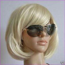 wie Echthaar! Neu Mode kurze Platin Blonde BOB Perücken