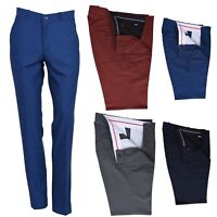 Men's Retro Sta Press Trousers Slim Fit Classic 60s 70s Tonic Two Tone Mod Pants