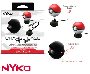 Poke Ball Plus Charging Dock Display Stand + Carry Case For Pokemon Poké Ball