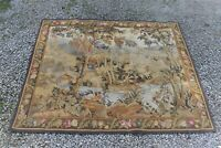 Handmade Hand Knotted Rug Tapestry Hanging Garden Pond Scene Trees