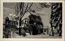 Buschhaus bei Lauenstein Sachsen DDR s/w AK 1954 gelaufen Ober Hirschsprung