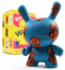 "Kidrobot ANDY WARHOL DUNNY SERIES - DOLLAR SIGNS Money Symbol 3"" Vinyl Figure"