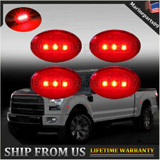 For Ford 99-10 F350 F450 Red Dually Bed Fender Side Marker LED Lights US Seller