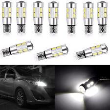 10X T10 Car Side Light Bulb Canbus Error Free Xenon White 10LED 501 W5W WEDGE ST
