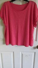 SZ M Eileen Fisher ROSE Organic Cotton Hemp Twist Scoop Neck Box Top NWT