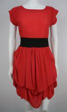 Atmosphere Womens Dress Red Size 8 Cotton Career Unique Comfy