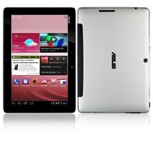Skinomi Carbon Fiber Silver Skin Cover+Screen Guard for Asus Transformer Pad 300