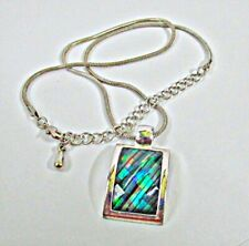 Kenneth Cole Peacock Rainbow Pendant Necklace 16-18""