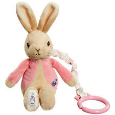 Beatrix Potter Flopsy Bunny Jiggle Attachable Soft Toy NEW
