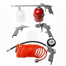 226115 Air Paint Spray Gun Kit 5Pc Air Tool Set Kit  with Gauge and Air Hose