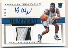 ANDREW WIGGINS 2014/15 NATIONAL TREASURES RC AIR APPARENT GOLD AUTO PATCH #08/10