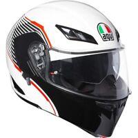 CASCO MOTO MODULARE AGV COMPACT ST PINLOCK VERMONT WHITE BLACK RED ROSSO TG S