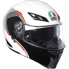 CASCO MOTO MODULARE AGV COMPACT ST PINLOCK VERMONT WHITE BLACK RED ROSSO TG L