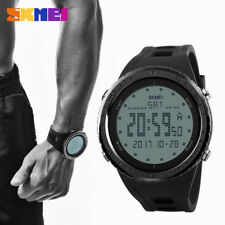 Men's Black Sport Military Classic Led Digital Waterproof Big Face Wrist Watches