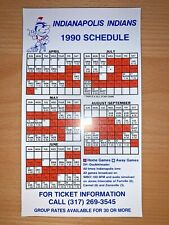 New listing 1990 INDIANAPOLIS INDIANS MINOR LEAGUE BASEBALL SCHEDULE MAGNET