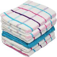 Towelogy® 100% Cotton Terry Tea Towels Kitchen Dishcloths Jumbo Check Wonderdry