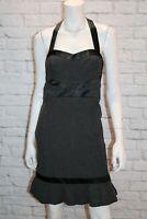 Cooper St Brand Charcoal Halter Neck Frill Hem Dress 10 Size BNWT #SM109