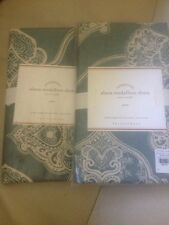 2 Pottery Barn Blue Alana Medallion Euro Shams Porcelain Blue
