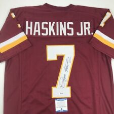 Autographed/Signed DWAYNE HASKINS JR Washington Red Football Jersey Beckett COA