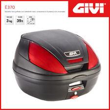 Valise / Coffre Givi Case E370 Universel - Noir/Catadioptres Rouges