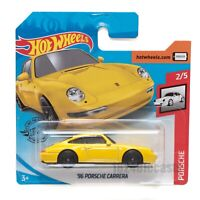 '96 Porsche Carrera Yellow, 2020 Hot Wheels scale 1:64, model toy car gift