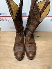 Men's Vintage Tony Lama Cowboy Boots Size 10.5 D