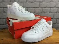 NIKE LADIES UK 3.5 EU 36.5 AIR FORCE 1 LOW WHITE LEATHER TRAINERS T RRP £85