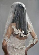 Silver Bridal Veils and Tiaras