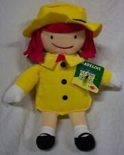 "Kohl's MADELINE GIRL IN YELLOW COAT & HAT 13"" Plush STUFFED ANIMAL Toy NEW"