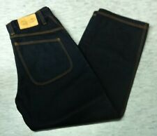 Vintage retro 90's dark blue Acme skateboard baggy loose cotton pant size 30