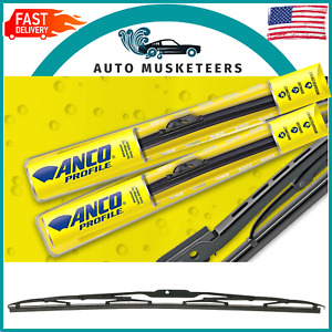 """ANCO KwikConnect Conventional 31 Series Black Wiper Blades 22"""" 31-22"""