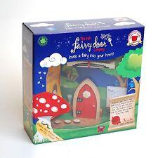 Irish Fairy Door Red Arched Fairys Door & Key Inside & Outside Kids Gift Box Set