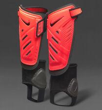 New Nike Youth Protegga Shield Shinpads Orange/Black Size: M