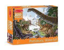 New Melissa & Doug Prehistoric Waterfall Jigsaw Puzzle w/ Dinosaurs 200 Pcs