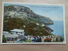 Old Postcard Unposted Writing on Back Llandudno Happy Valley Concert Party 1946