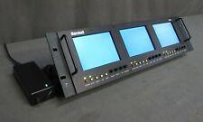 "TESTED Marshall V-R44DP-SDI Quad 3.5"" LCD Rackmount SDI Monitor"