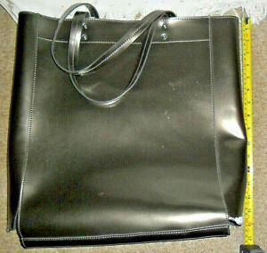 Large 100% Cow Leather Tote Handbag Shopper for Craft Project or Repair