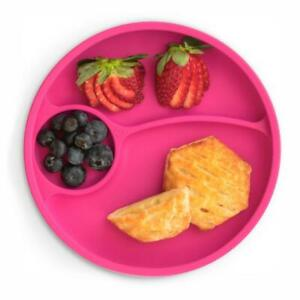 Brightberry Divided Suction Plate, Toddler Kids Silicone Plate with Sections