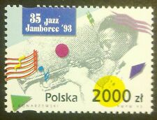 POLAND STAMPS MNH Fi3320 Sc3177 Mi3468 - Jazz Jamboree, 1993, **
