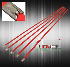 """5x 12"""" STAINLESS STEEL INDUSTRIAL STRENGTH LOCK CABLE ZIP TIES RED - MANIFOLD"""