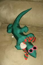 "New 14"" Christmas Gecko Wearing Shades Plush w/ Tag"