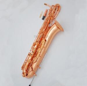Professional Rose Gold Plating Baritone Saxophone Bari Support Eb Sax New Case
