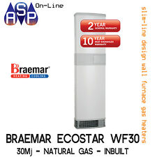 BRAEMAR ECOSTAR WF30 WALL FURNACE - 30Mj - NATURAL GAS - WITH REPLACING KIT
