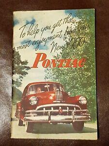 1950 PONTIAC AMERICAN CAR OWNERS MANUAL FACTORY ORIGINAL BOOK