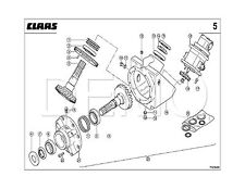 Claas Quadrant 3400 RF/RC Pièces de rechange catalogue, Manuel d'origine (PDF catalogue)