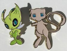 Pokemon Trading Card Game - Celebi and Mew  Pin  OFFICIAL authentic lot