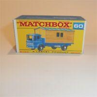 Matchbox Lesney 60 b Leyland Site Hut Truck empty Repro F style Box