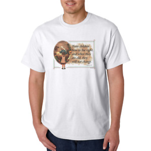 Train Children how to live Christian HoneVille T-shirt Adult Youth
